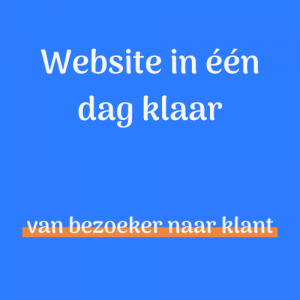 Website in 1 dag klaar - Met spoed een website nodig?