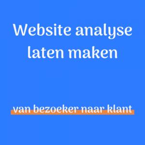 Website analyse laten maken