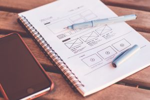 Wat zijn wireframes ? - UX-writer - wireframe website