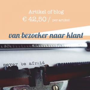 Artikel of blog #1 - Artikel laten schrijven door tekstschrijver