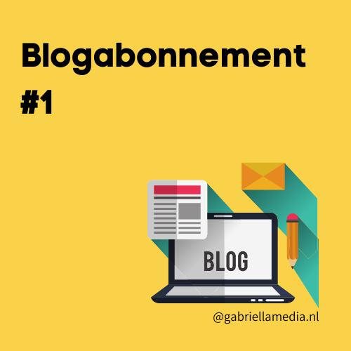 Blogabonnement #1
