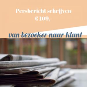 Persbericht laten schrijven
