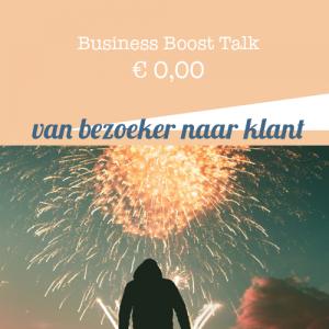 Business Boost Talk bij jouw ondernemersadviseur