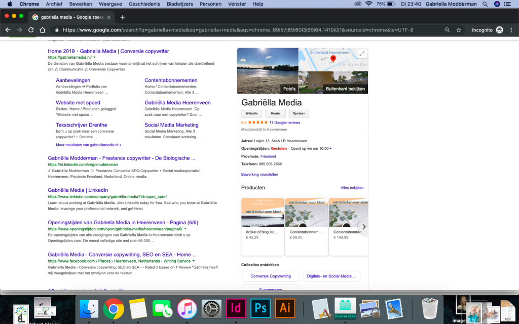 Google mijn bedrijf - stappenplan - Gabriëlla Media - SEO | Review marketing