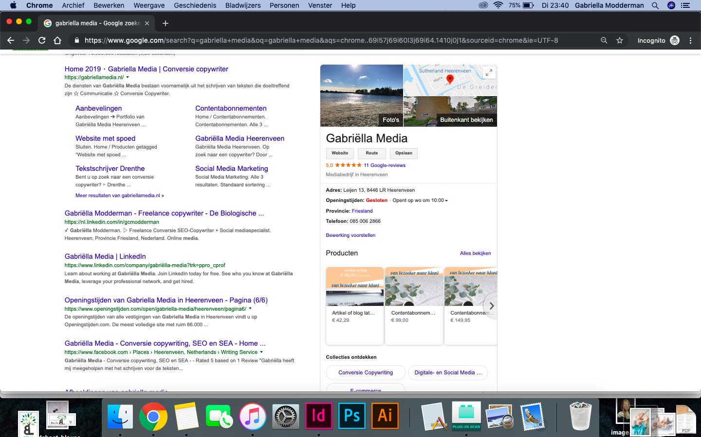 Google mijn bedrijf - stappenplan - Gabriëlla Media - SEO   Review marketing