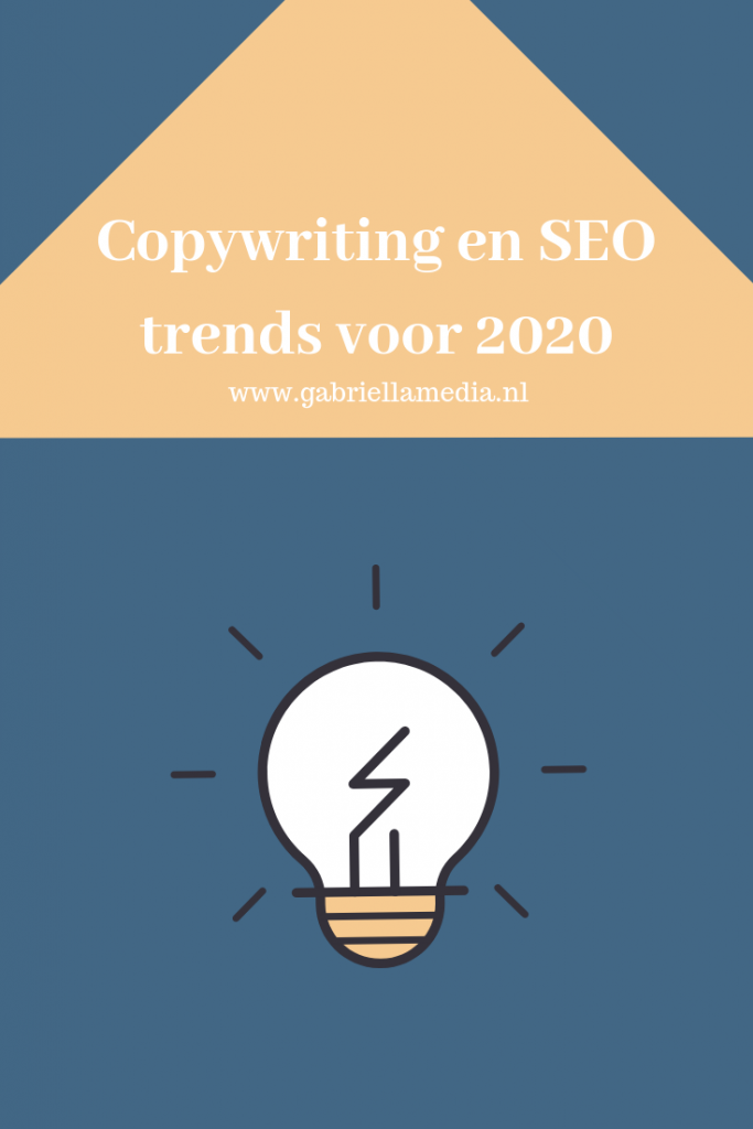 Copywriting en SEO Trends 2020 / Contentmarketing 2020 / Pinterest