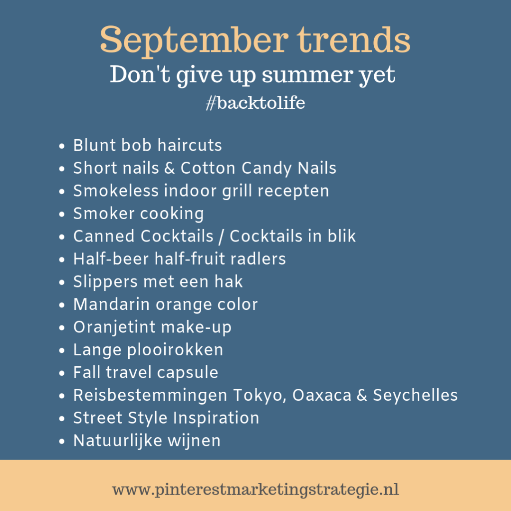 Pinterest Trends September - Pinterest trending