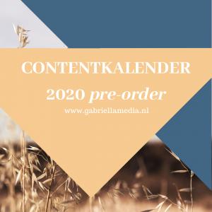 Contentkalender 2020 (pre-order) | Gabriëlla Media