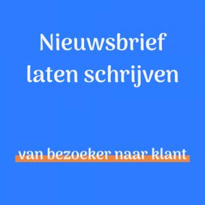 Nieuwsbrief laten schrijven - Teksttovenaars