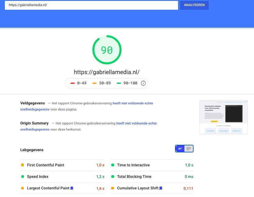 PageSpeed Desktop