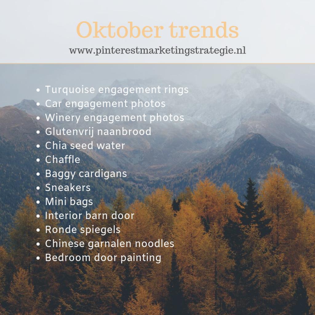 Oktober trends Pinterest