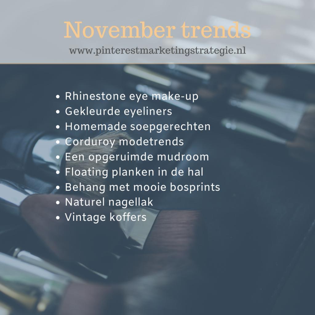 November trends Pinterest