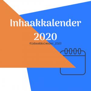 Inhaakkalender 2020 - Contentkalender