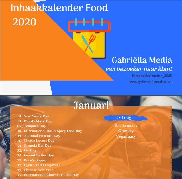 Inhaakkalender food sector