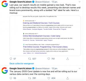 January 2020 Core Update - Google Updates voor ondernemers