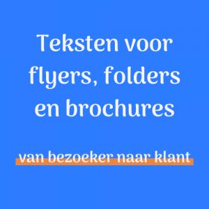 Folderteksen - Flyerteksten - Brochureteksten