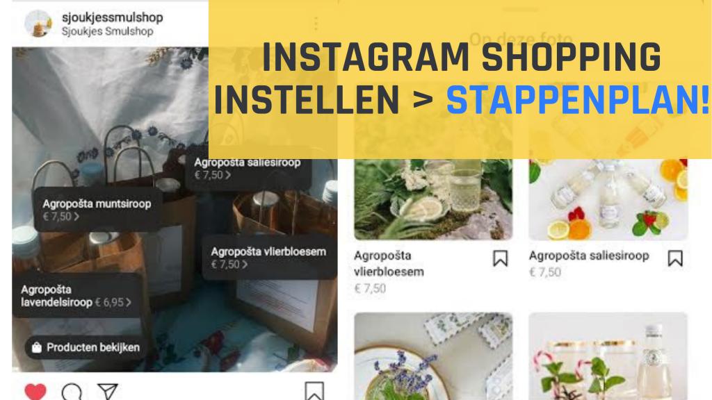 Instagram shopping instellen - stappenplan