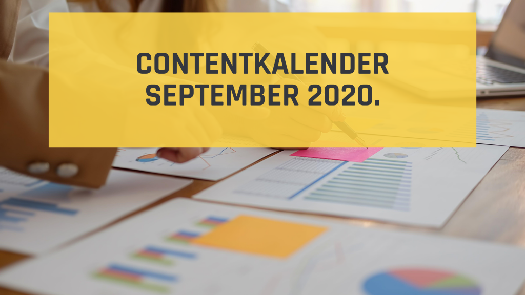 Inhaakkalender september 2020