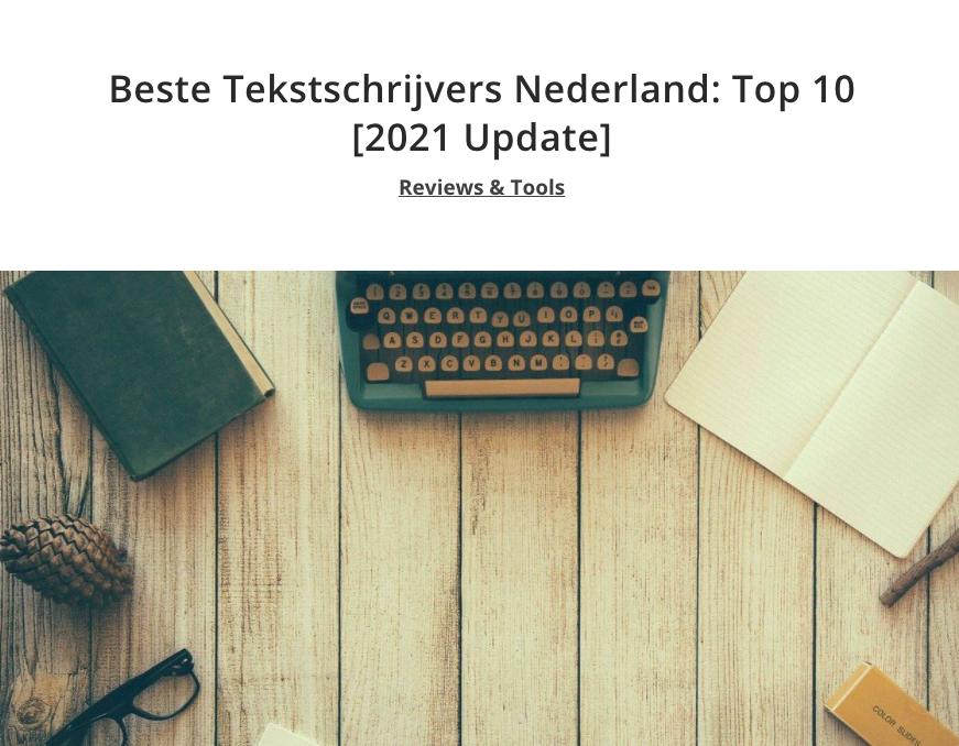 Beste tekstschrijvers van Nederland
